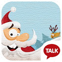 santa claus kakao talk theme