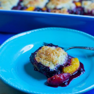Kevin's Blueberry-Peach Cobbler