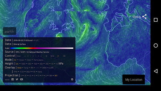 Wind Map 🌪 Hurricane Tracker (3D Globe & Alerts)- screenshot thumbnail