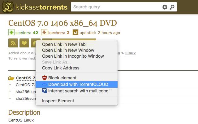 TorrentCloud torrent Upload
