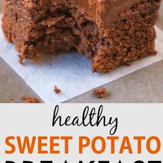 Healthy Sweet Potato Breakfast Brownies.