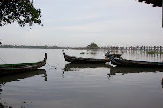 Photo: Year 2 Day 55 - View of the Bridge Spanning Taungthaman Lake
