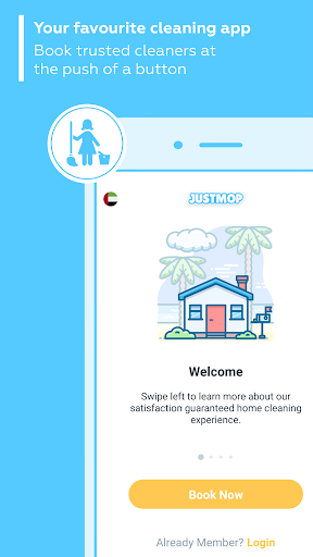 Justmop: Home Cleaning Services & Part-Time Maids screenshots 1