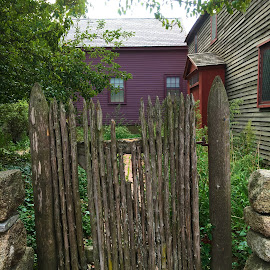 Antique Gate at Salem Witch Memorial by Kristine Nicholas - Novices Only Objects & Still Life ( fence, witch, sticks, architecture, salem, multiple, antique, historic, iphone 6s photos, gate,  )