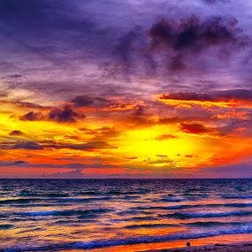 sunset by Philip Familara - Landscapes Sunsets & Sunrises ( sky, blue, waves, sunset, beautiful, wave, summer, tourism, travel, beauty, sunrise, philippines, island,  )