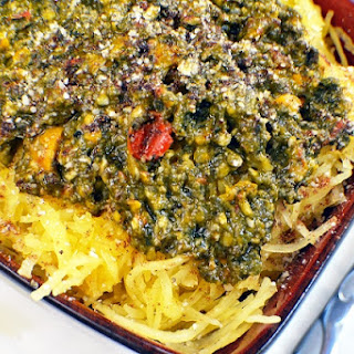 Spaghetti Squash and Spinach Sauce