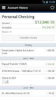 Screenshot of Tyndall e-Banking