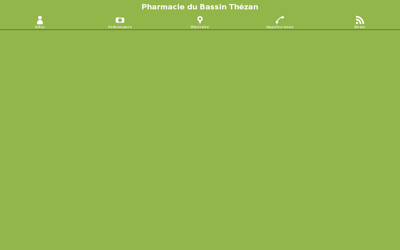 Pharmacie du Bassin Thézan- screenshot