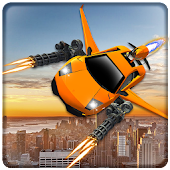 Flying Car Shooting Battle Adventure War Simulator