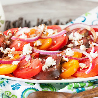 Tomato Feta Caprese Salad