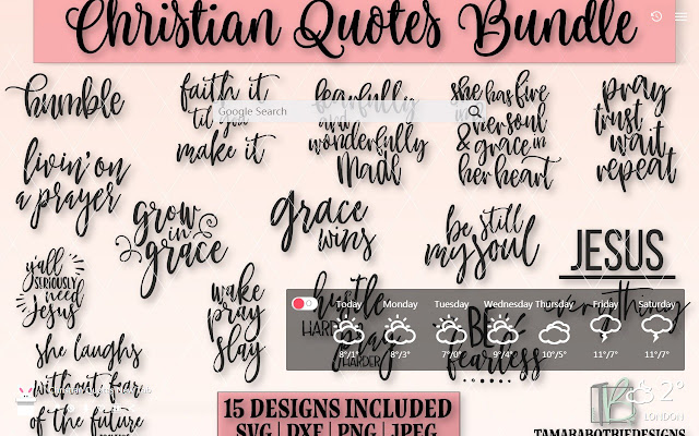 Christian Quotes New Tab, Wallpapers HD