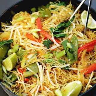 One-Pan Singapore Noodles [Vegan, Gluten-Free].