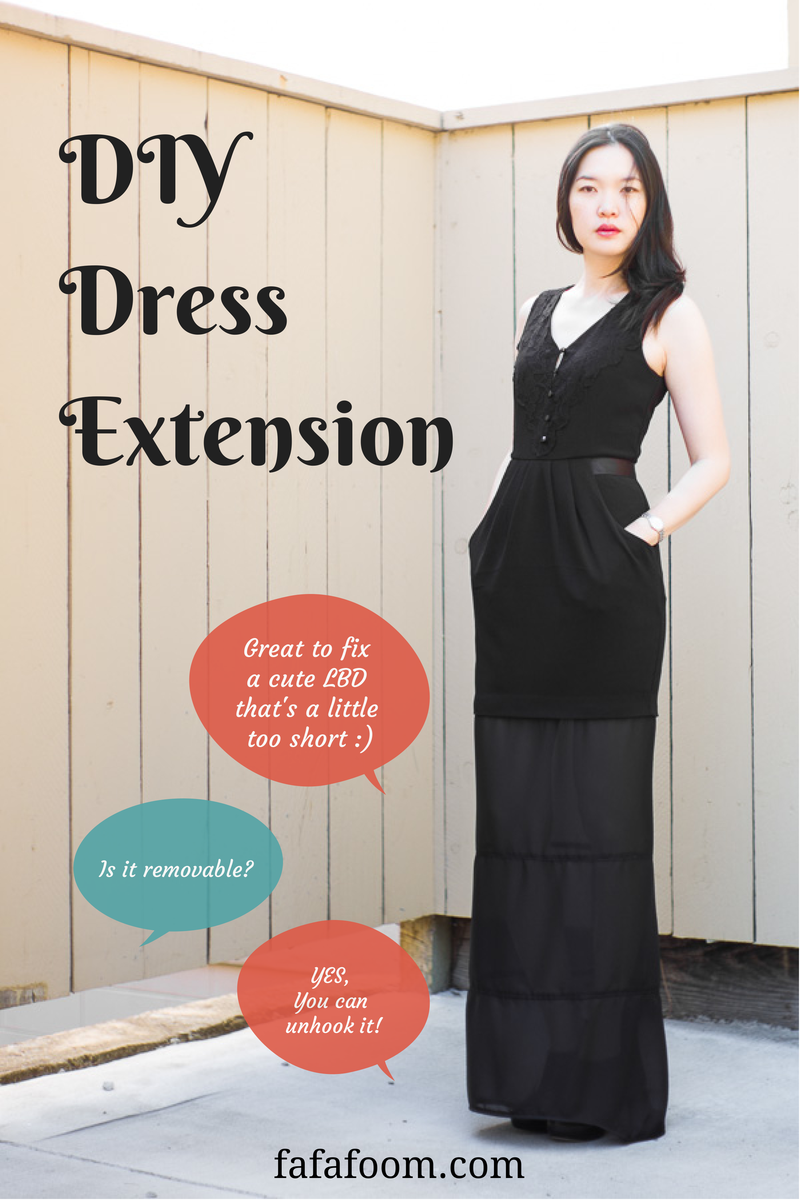 Removable Dress Extension - DIY Fashion Garments | fafafoom.com