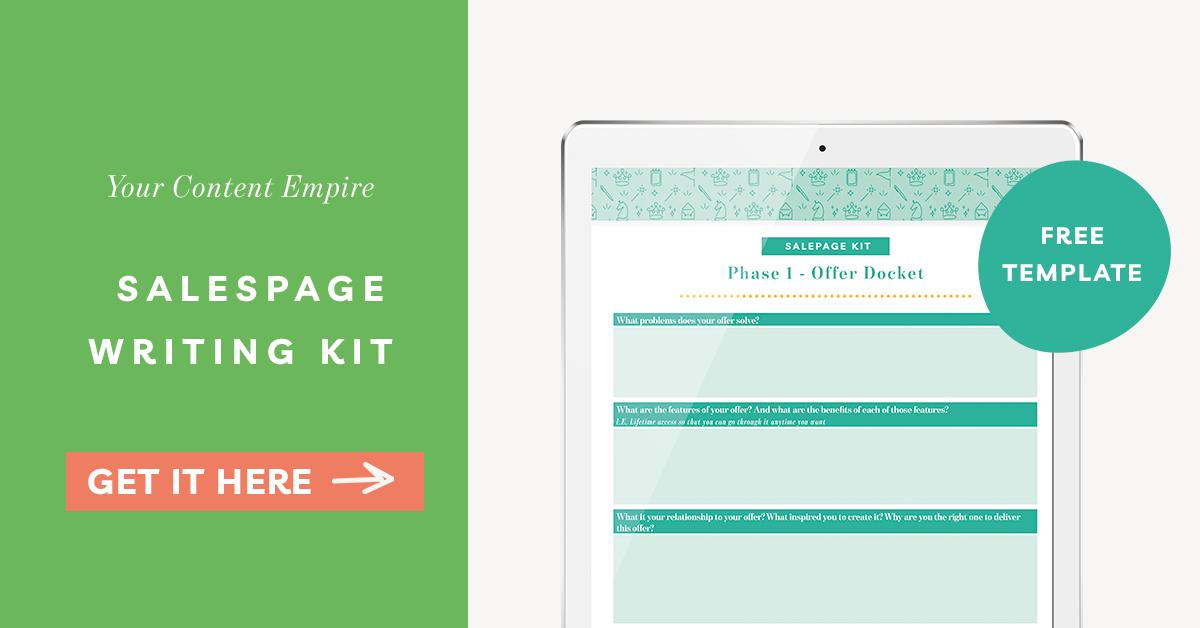 Freebie | Salespage Writing Kit