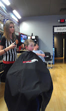 "Photo: One last thing before heading home to make a movie - The Boy LOVES to get his hair cut (and he needed it) so we took him to his favorite place, SportClips, to get a new ""do"" for his YouTube premier!!"