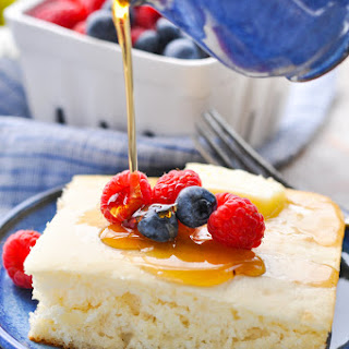 Dump-and-bake 5-ingredient Buttermilk Pancakes.