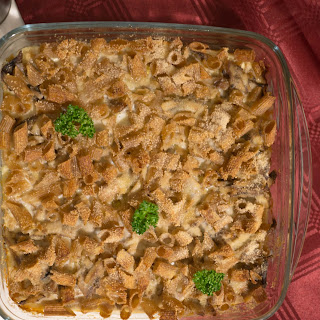 Smoked Baltic herring and Pasta casserole.