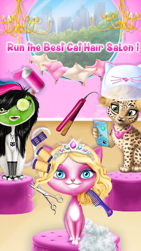 Cat Hair Salon Birthday Party - Virtual Kitty Care screenshots 3