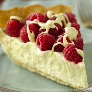 White Chocolate-Raspberry Pie.