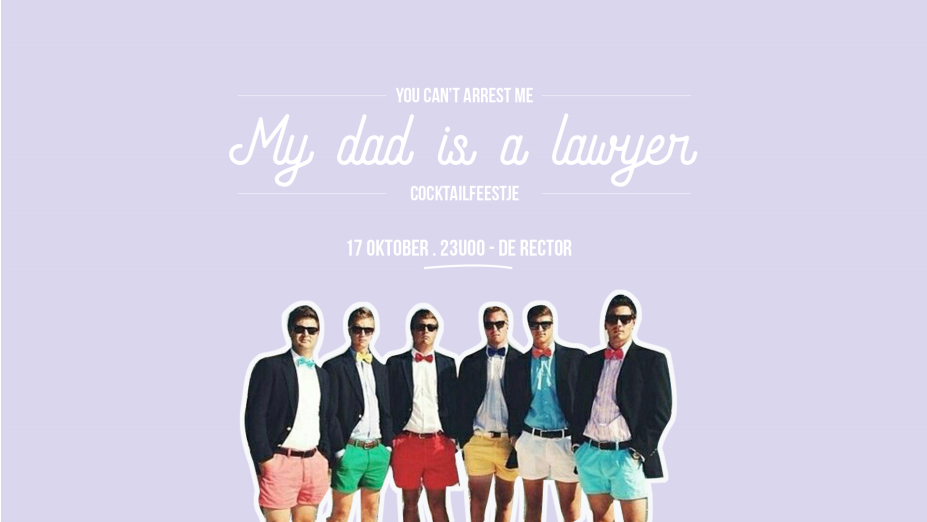 'My Dad is a Lawyer' cocktailparty