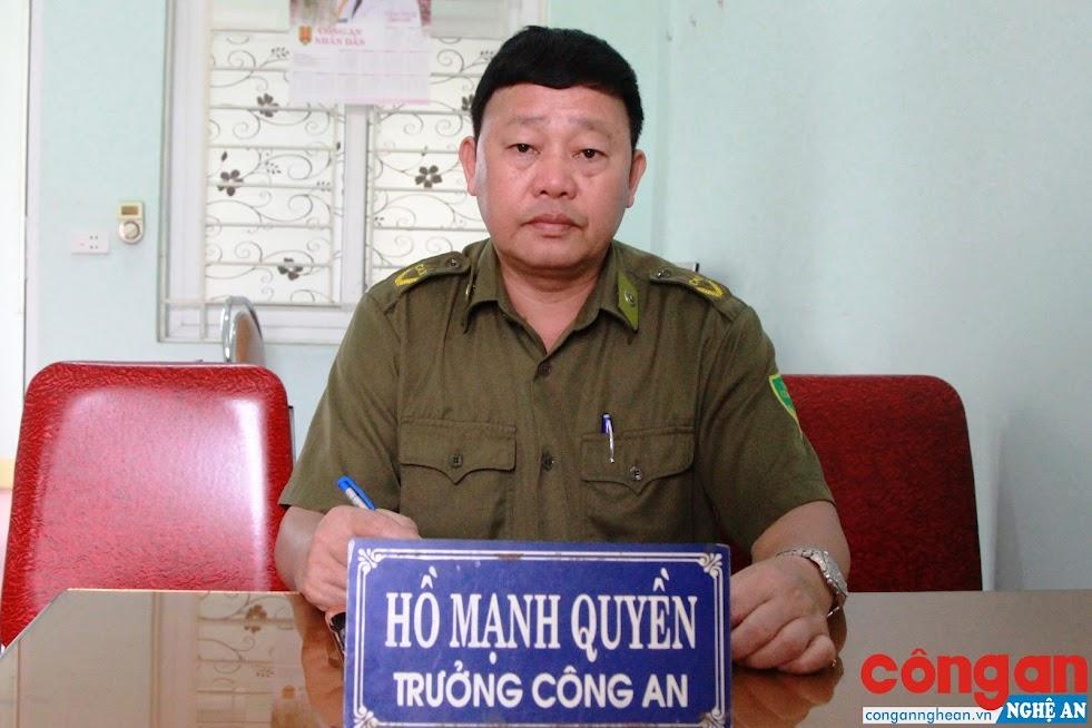 Đồng chí Hồ Mạnh Quyền, Trưởng Công an xã Tây Hiếu