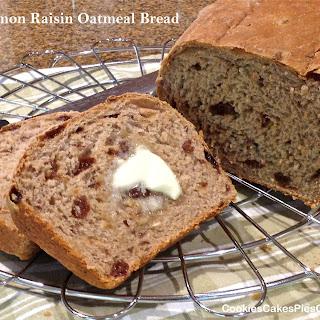 Cinnamon Raisin Oatmeal Bread.