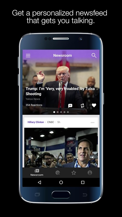Yahoo:Newsroom for Communities- screenshot