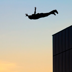Free! by Adrijan Pregelj - Sports & Fitness Climbing ( flying, free, sky, jumping, man )