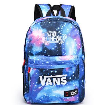 藍色Vans幻彩背包