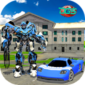 Grand Super Car Robot Flash Speed Battle
