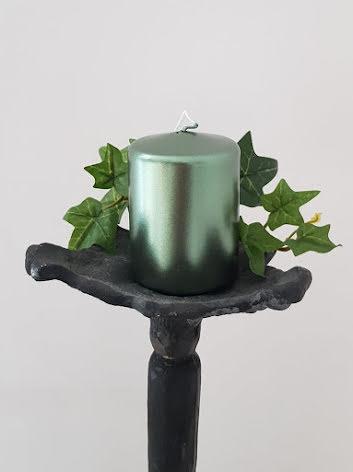 Bordsljus Mossgrön Metallic 6x8 cm