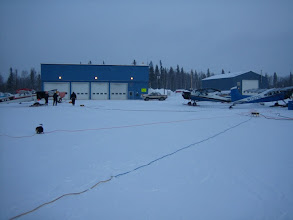 Photo: Cold planes don't fly - have to keep them warm and it's a battle.