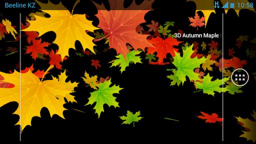 3D Осенние Кленовые Листья скачать на планшет Андроид