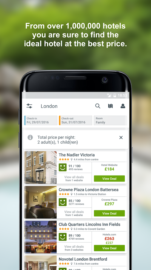 "Find hotels with one of the world's best travel app's: • The Guardian lists trivago among the ""10 best money-saving apps."" • Tech Times calls trivago one of the ""must have apps for frequent travelers."" • Lifehacker lists trivago among the ""best price-comparison apps you need to download.""."