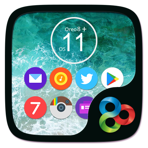 Oreo8 & Ios11 Go Launcher Theme