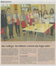 Photo: 2014-01-28 CO Au collège les élèves créetn un logo vert