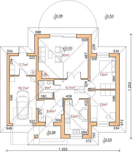 Dom przy Altanowej 2 - Rzut parteru