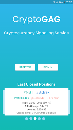 CryptoGAG : Bitcoin & Altcoin Signaling Service for PC