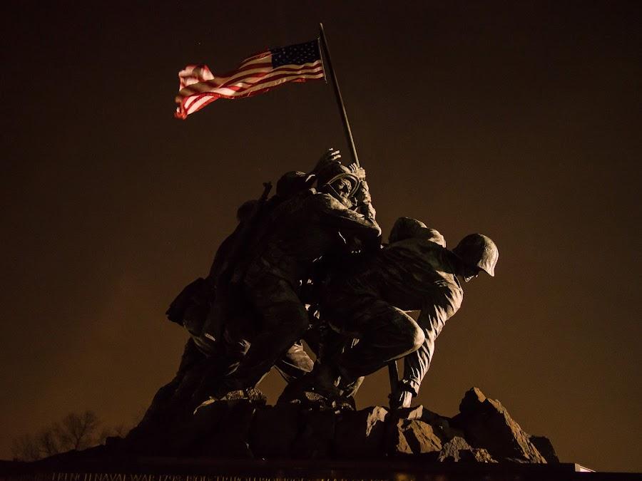 Iwo Jima by Robert Cannon - Buildings & Architecture Public & Historical ( iwo jima memorial, washington dc )