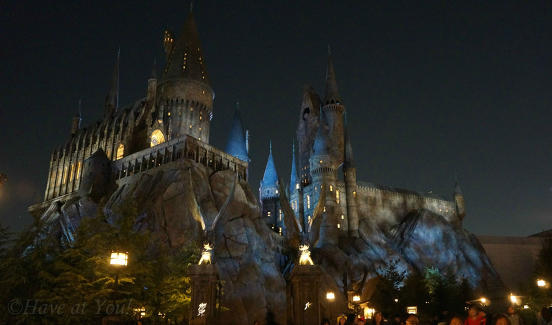 HP Castle at night