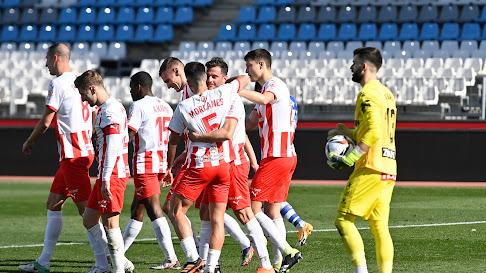 La celebración del gol de Juan Villar.