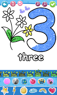 Glitter Number and letters coloring Book for kids 5