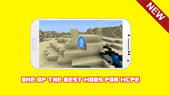 Gun Portal Mod For Minecraft PE MCPE - náhled