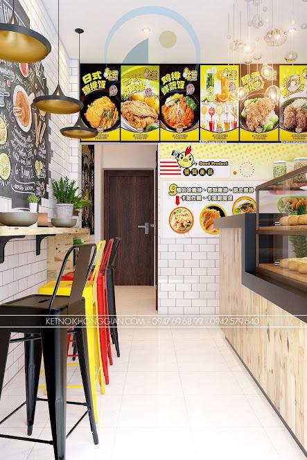 thiết kế cửa hàng gà rán đài loan 2