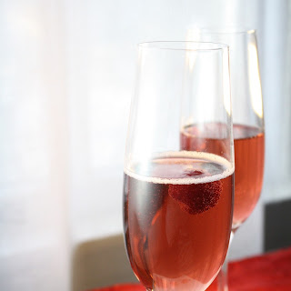 Raspberry Champagne Cocktail.
