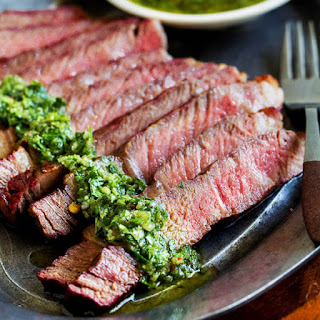Grilled Ribeye with Chimichurri Sauce