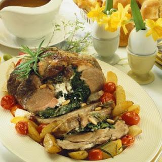 Stuffed Lamb Leg with Potatoes