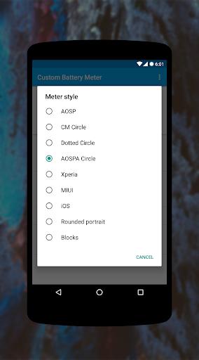 [XPOSED] Custom Battery Meter  screenshots 3
