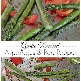 Garlic Roasted Asparagus and Red Pepper Recipe