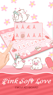 Pink Soft Love Theme&Emoji Keyboard - náhled